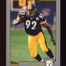 2001 Topps Football #276 Jason Gildon - Pittsburgh Steelers