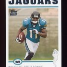 2004 Topps Football #343 Reggie Williams RC - Jacksonville Jaguars