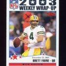 2004 Topps Football #306 Brett Favre - Green Bay Packers