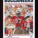 2004 Topps Football #126 Simeon Rice - Tampa Bay Buccaneers
