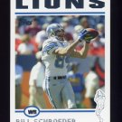 2004 Topps Football #106 Bill Schroeder - Detroit Lions