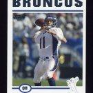 2004 Topps Football #076 Steve Beuerlein - Denver Broncos