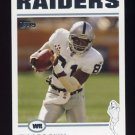 2004 Topps Football #003 Tim Brown - Oakland Raiders
