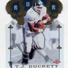 2002 Crown Royale Football #148 T.J. Duckett RC - Atlanta Falcons