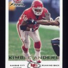 2000 Fleer Focus Football #199 Kimble Anders - Kansas City Chiefs