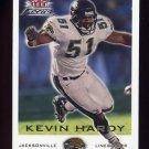 2000 Fleer Focus Football #180 Kevin Hardy - Jacksonville Jaguars
