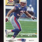 2000 Fleer Focus Football #168 Lawyer Milloy - New England Patriots