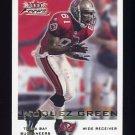 2000 Fleer Focus Football #166 Jacquez Green - Tampa Bay Buccaneers