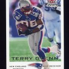 2000 Fleer Focus Football #133 Terry Glenn - New England Patriots