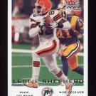 2000 Fleer Focus Football #132 Leslie Shepherd - Miami Dolphins