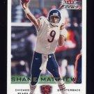2000 Fleer Focus Football #107 Shane Matthews - Chicago Bears