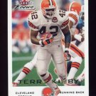 2000 Fleer Focus Football #101 Terry Kirby - Cleveland Browns