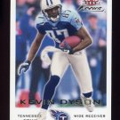 2000 Fleer Focus Football #072 Kevin Dyson - Tennessee Titans