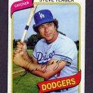 1980 Topps Baseball #726 Steve Yeager - Los Angeles Dodgers Vg