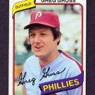 1980 Topps Baseball #718 Greg Gross - Philadelphia Phillies NM-M