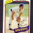 1980 Topps Baseball #715 Sal Bando - Milwaukee Brewers