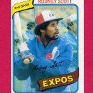 1980 Topps Baseball #712 Rodney Scott - Montreal Expos ExMt