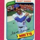 1980 Topps Baseball #707 Elliott Maddox - New York Mets ExMt
