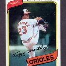 1980 Topps Baseball #706 Tippy Martinez - Baltimore Orioles