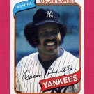 1980 Topps Baseball #698 Oscar Gamble - New York Yankees NM-M