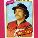 1980 Topps Baseball #697 David Clyde - Cleveland Indians NM-M
