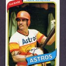 1980 Topps Baseball #696 Julio Gonzalez - Houston Astros