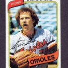 1980 Topps Baseball #688 Steve Stone - Baltimore Orioles ExMt