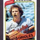 1980 Topps Baseball #688 Steve Stone - Baltimore Orioles Ex