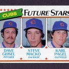 1980 Topps Baseball #676 Dave Geisel / Steve Macko / Karl Pagel - Chicago Cubs