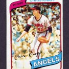 1980 Topps Baseball #658 Chris Knapp - California Angels