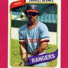 1980 Topps Baseball #656 Larvell Blanks - Texas Rangers NM-M