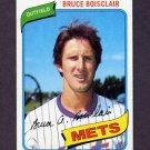 1980 Topps Baseball #654 Bruce Boisclair - New York Mets ExMt