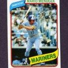 1980 Topps Baseball #652 Mario Mendoza - Seattle Mariners