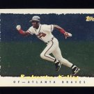 1995 Topps Baseball Cyberstats #317 Roberto Kelly - Atlanta Braves