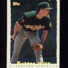 1995 Topps Baseball Cyberstats #256 Bobby Witt - Oakland A's