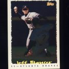 1995 Topps Baseball Cyberstats #214 Jeff Blauser - Atlanta Braves