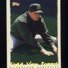 1995 Topps Baseball Cyberstats #207 Todd Van Poppel - Oakland A's