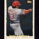 1995 Topps Baseball Cyberstats #161 Jose Canseco - Texas Rangers