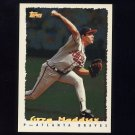 1995 Topps Baseball Cyberstats #158 Greg Maddux - Atlanta Braves