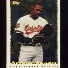 1995 Topps Baseball Cyberstats #156 Arthur Rhodes - Baltimore Orioles