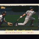 1995 Topps Baseball Cyberstats #138 Chuck Knoblauch - Minnesota Twins