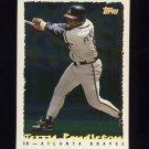 1995 Topps Baseball Cyberstats #134 Terry Pendleton - Atlanta Braves