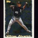 1995 Topps Baseball Cyberstats #106 Wilson Alvarez - Chicago White Sox