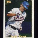 1995 Topps Baseball Cyberstats #105 Jeff Kent - New York Mets