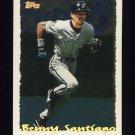 1995 Topps Baseball Cyberstats #095 Benny Santiago - Florida Marlins