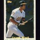 1995 Topps Baseball Cyberstats #094 Troy Neel - Oakland A's