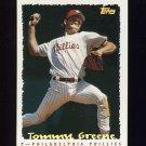 1995 Topps Baseball Cyberstats #088 Tommy Greene - Philadelphia Phillies