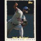 1995 Topps Baseball Cyberstats #051 Mel Rojas - Montreal Expos