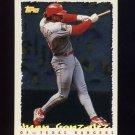 1995 Topps Baseball Cyberstats #050 Juan Gonzalez - Texas Rangers