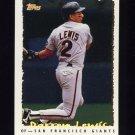 1995 Topps Baseball Cyberstats #031 Darren Lewis - San Francisco Giants